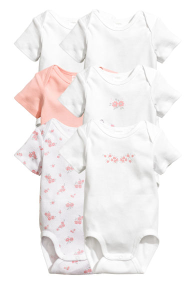 6-pack bodysuits - Light pink - Kids | H&M CN 1